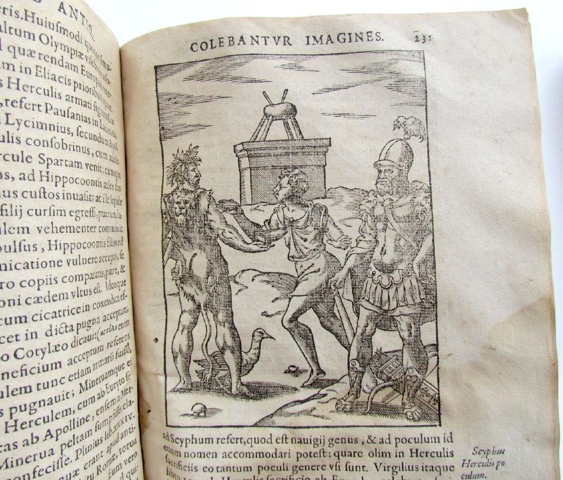 1581 RARE FULLY ILLUSTRATED MYTHOLOGY ANTIQUE VELLUM - 10