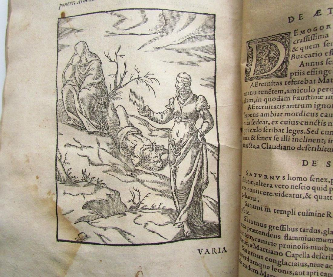 1581 RARE FULLY ILLUSTRATED MYTHOLOGY ANTIQUE VELLUM - 12