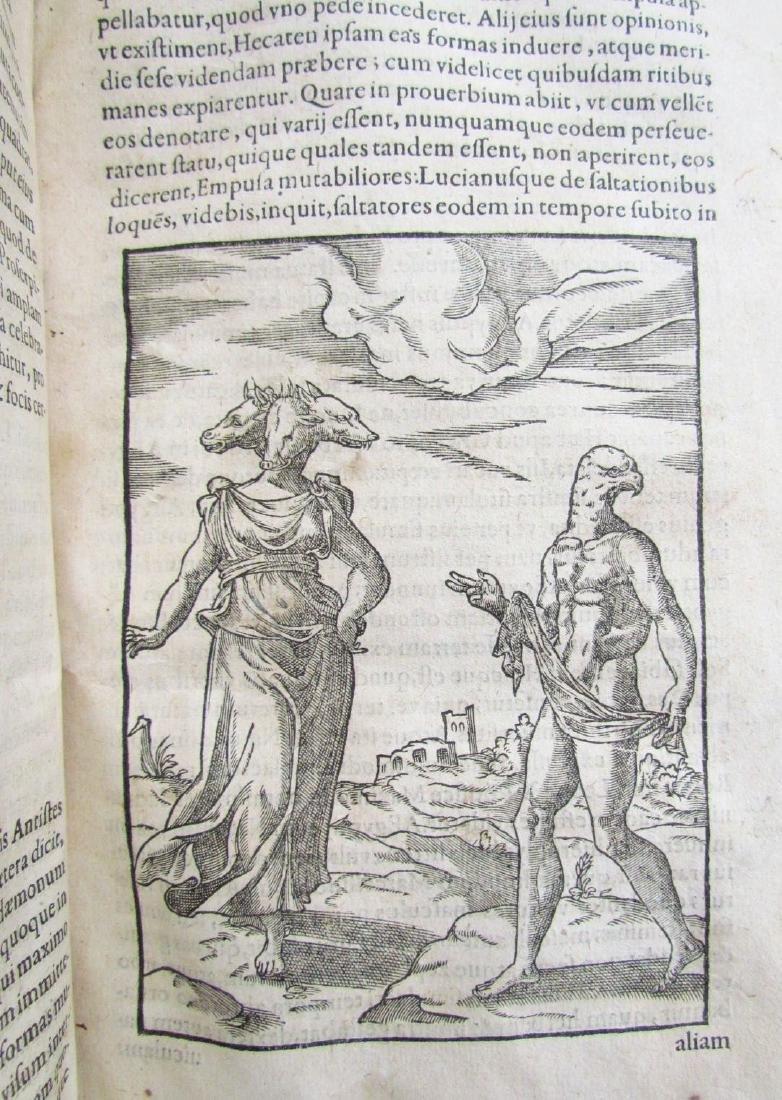 1581 RARE FULLY ILLUSTRATED MYTHOLOGY ANTIQUE VELLUM