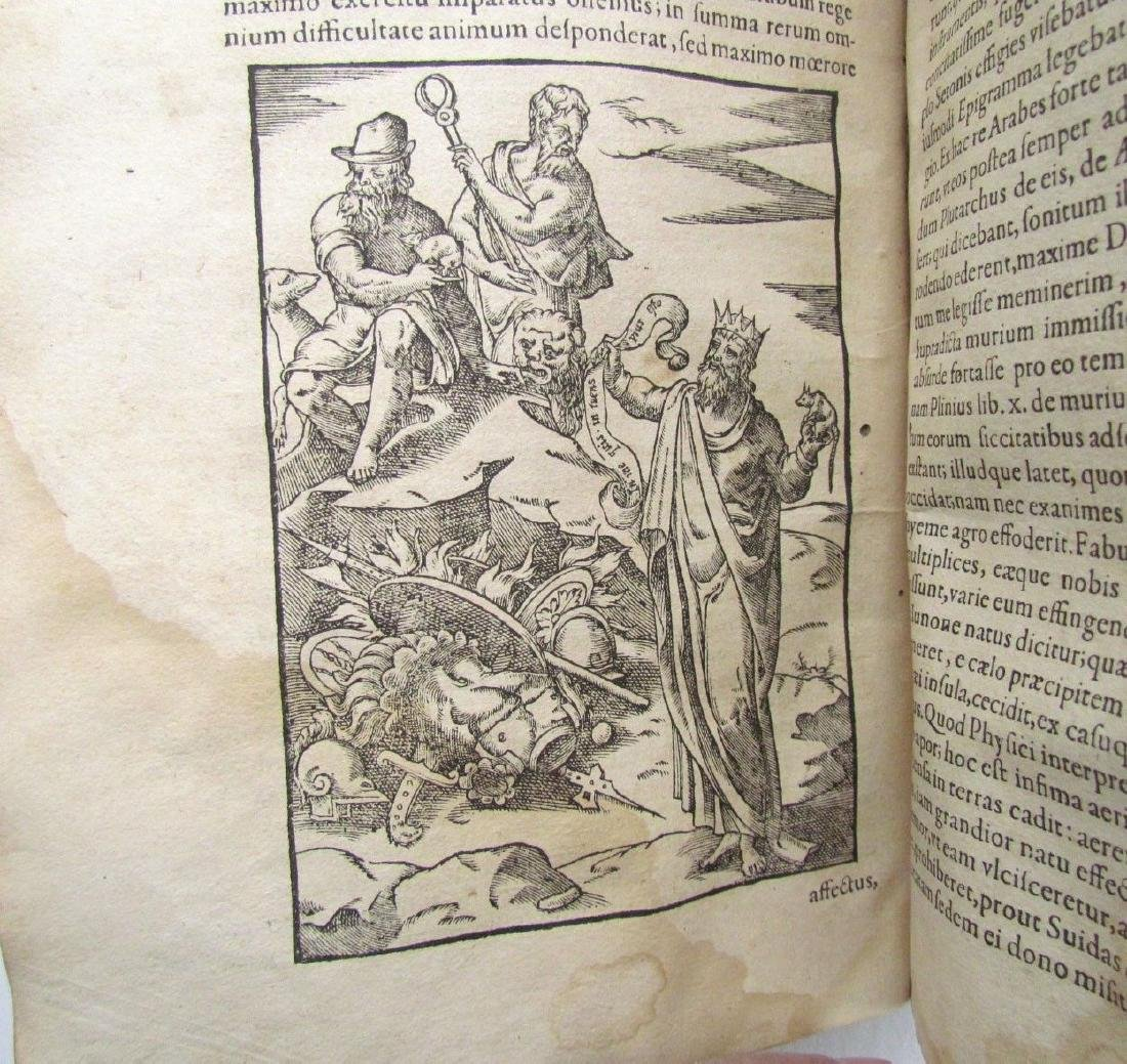 1581 RARE FULLY ILLUSTRATED MYTHOLOGY ANTIQUE VELLUM - 9