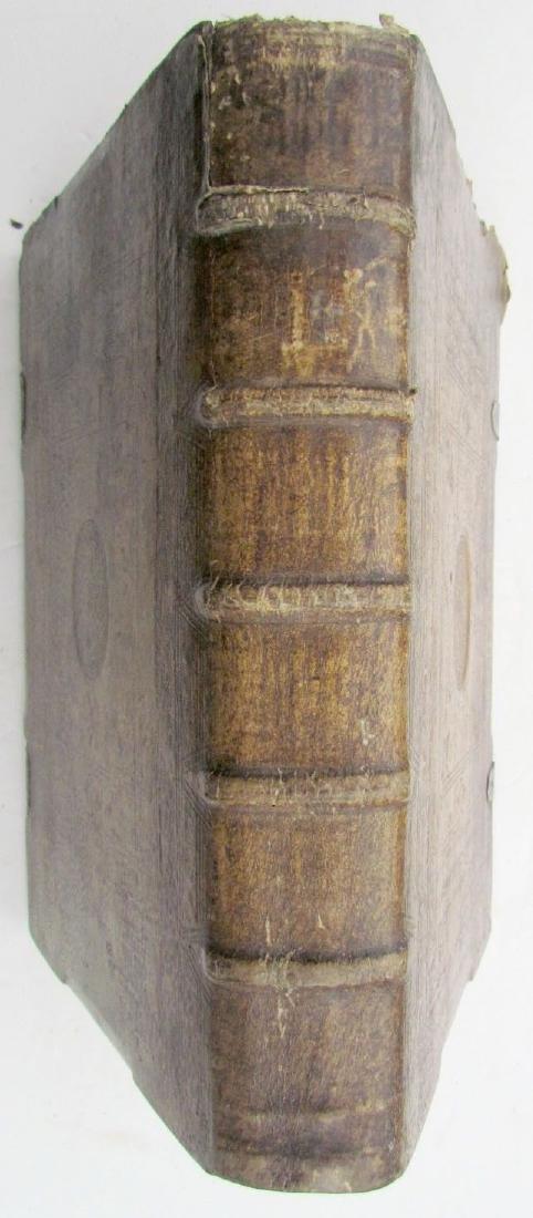 1617 ANTIQUE BLINDSTAMPED VELLUM FOLIO BIBLE DICTIONARY