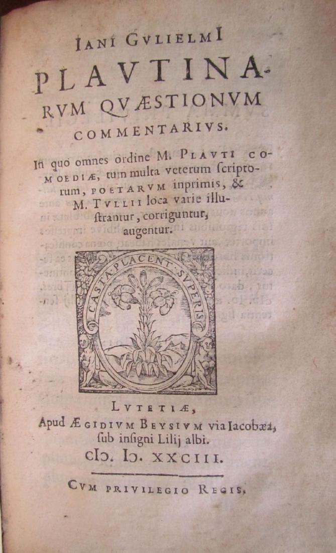 1580s ANTIQUE VELLUM BOUND BOOK IN LATIN - 3