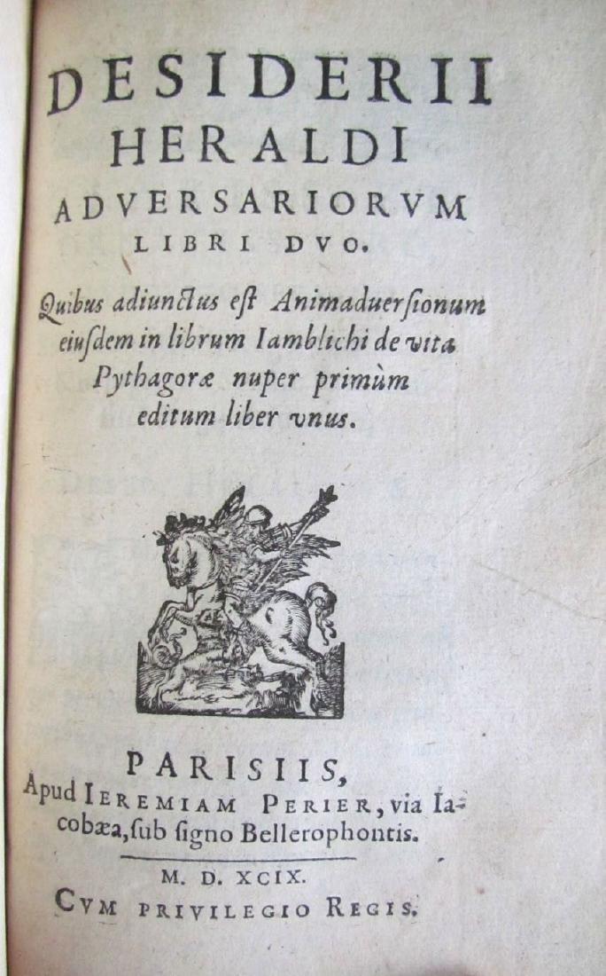 1580s ANTIQUE VELLUM BOUND BOOK IN LATIN - 4