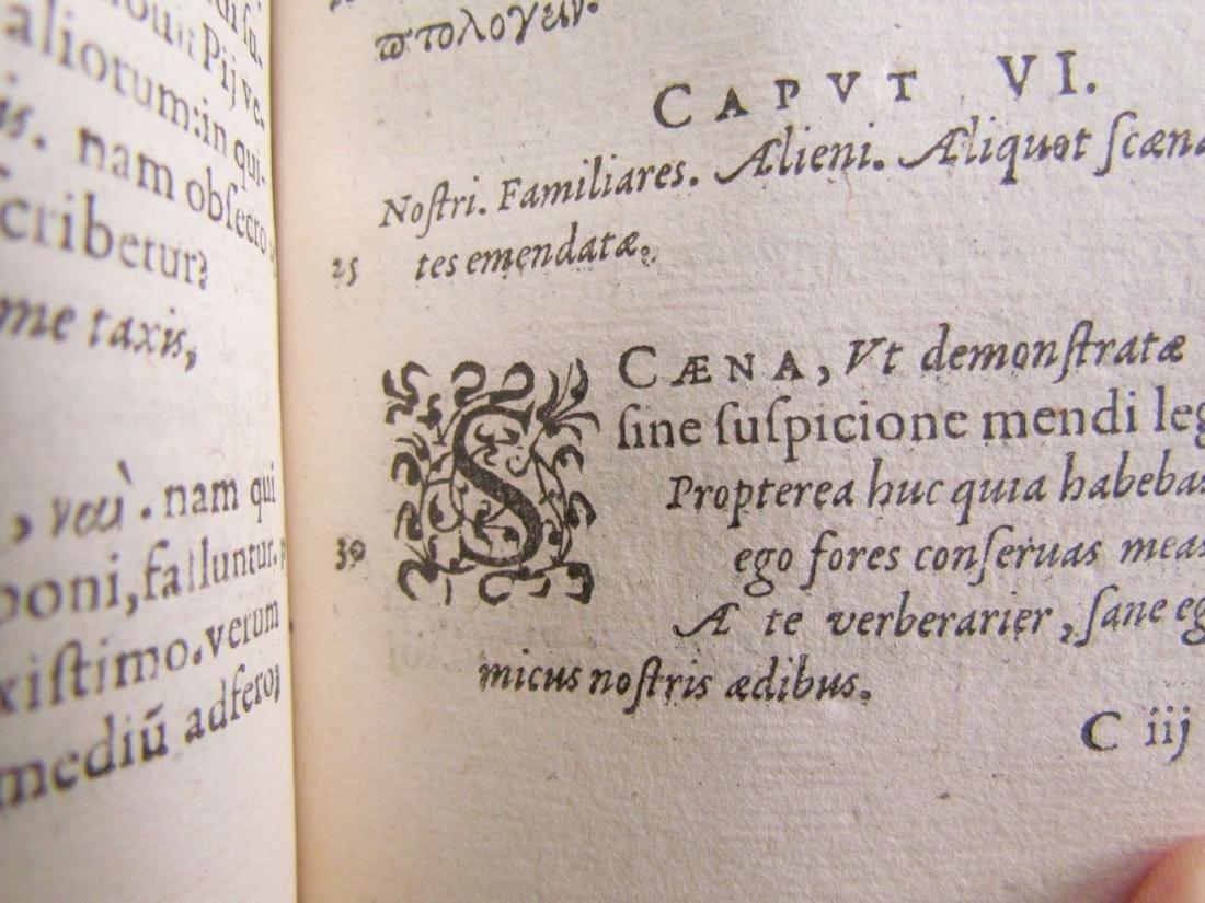 1580s ANTIQUE VELLUM BOUND BOOK IN LATIN - 6