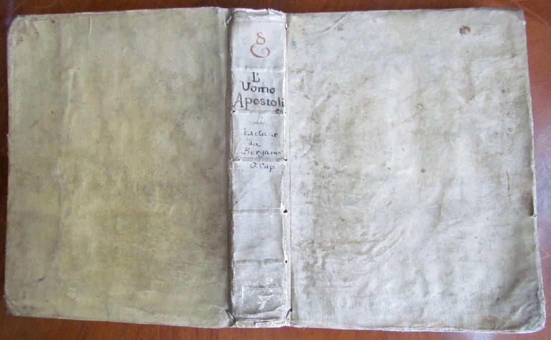 1749 ANTIQUE VELLUM BOUND Di Fr. Gaetano Maria da