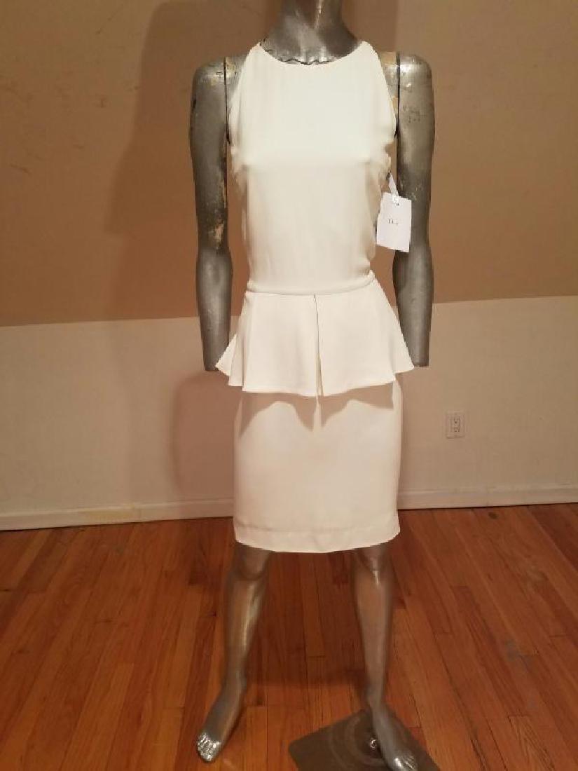 Christian Dior Paris Runway peplum dress NWT silk crepe - 2