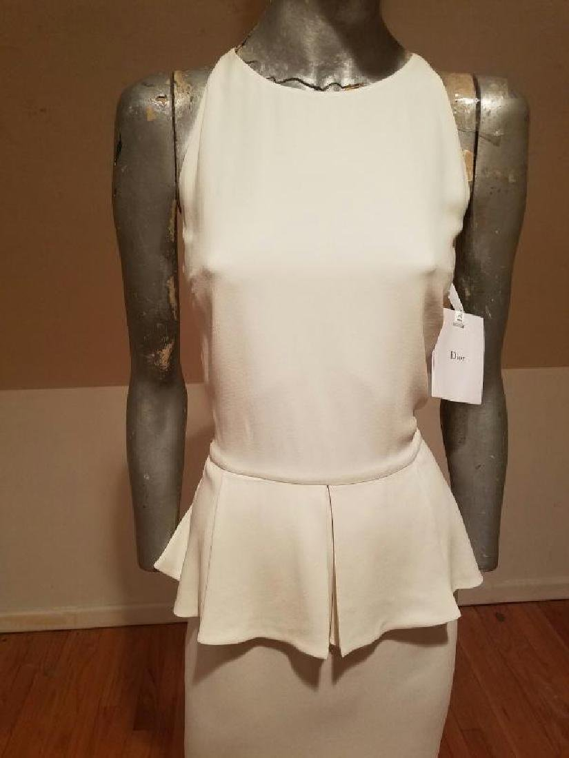 Christian Dior Paris Runway peplum dress NWT silk crepe - 4