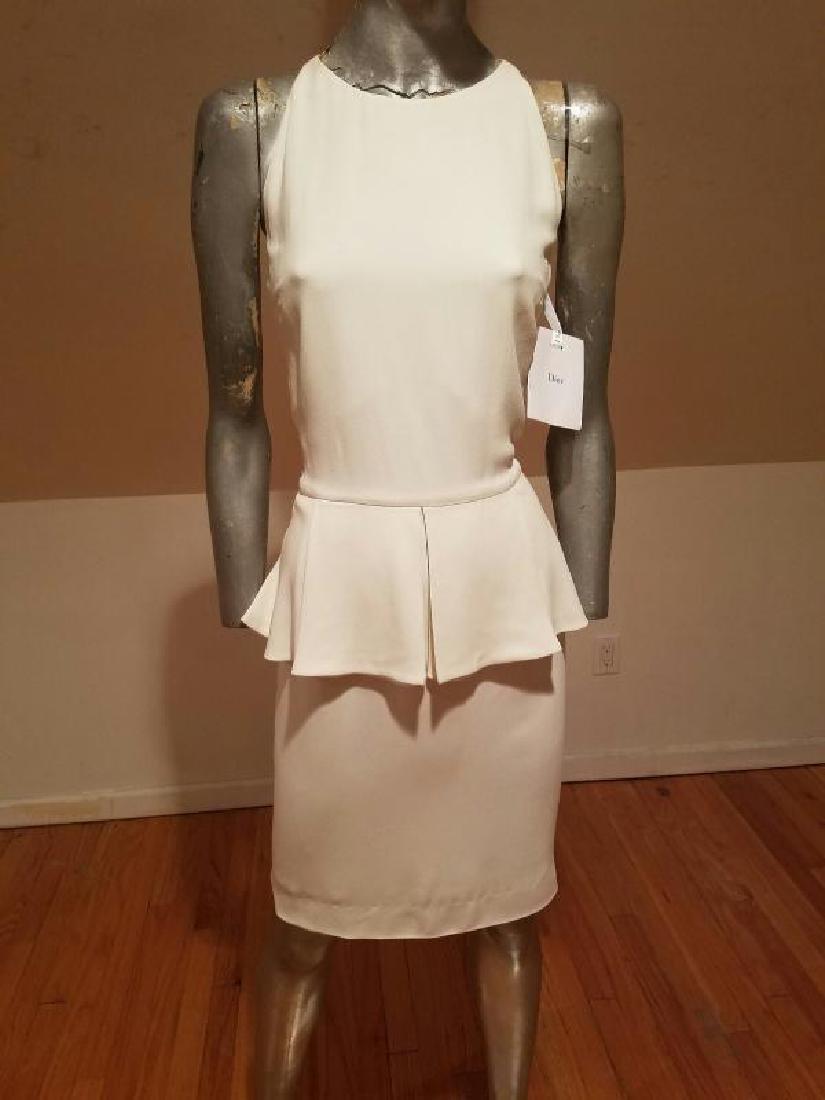 Christian Dior Paris Runway peplum dress NWT silk crepe - 5