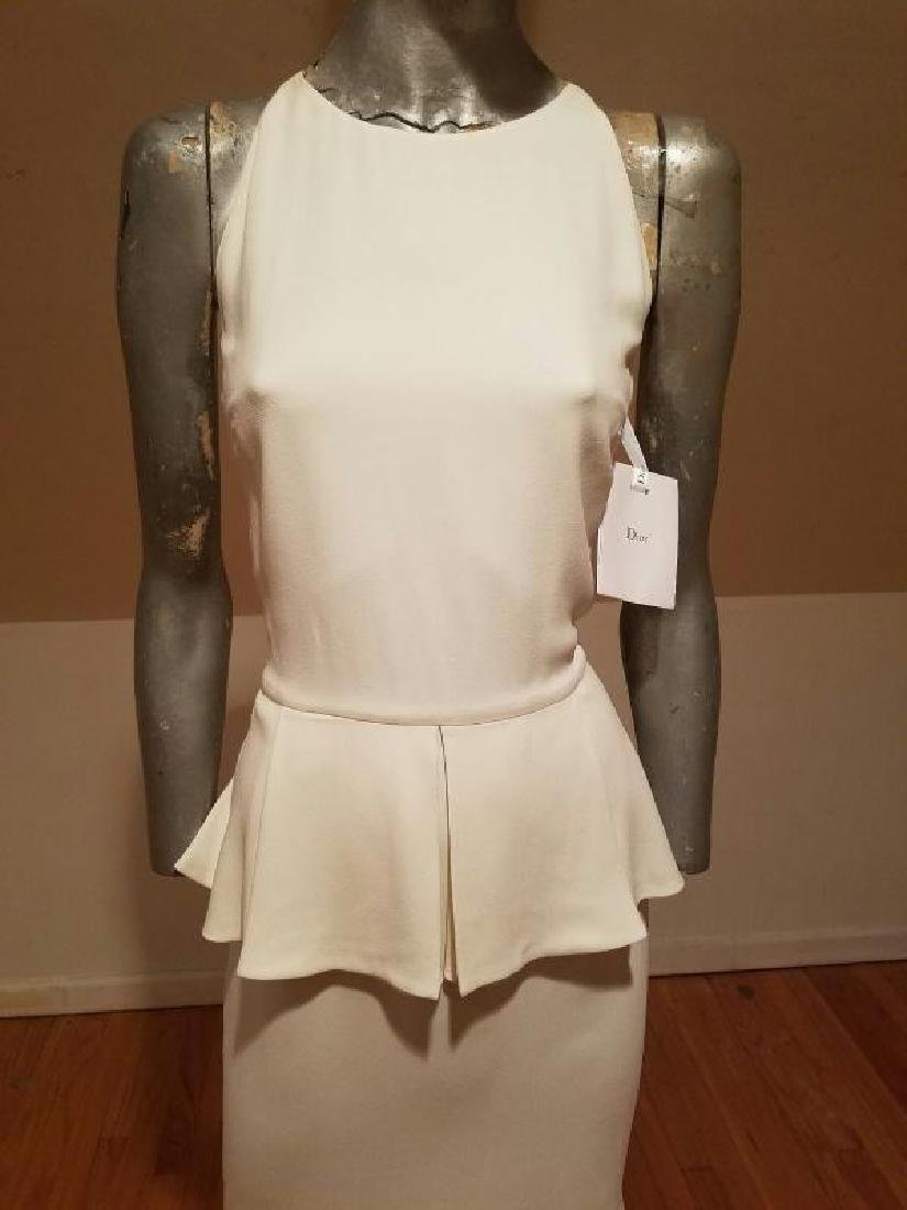 Christian Dior Paris Runway peplum dress NWT silk crepe - 6