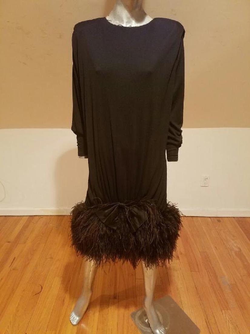 Vtg Iconic Jeanette for St.Martin Feather embellished