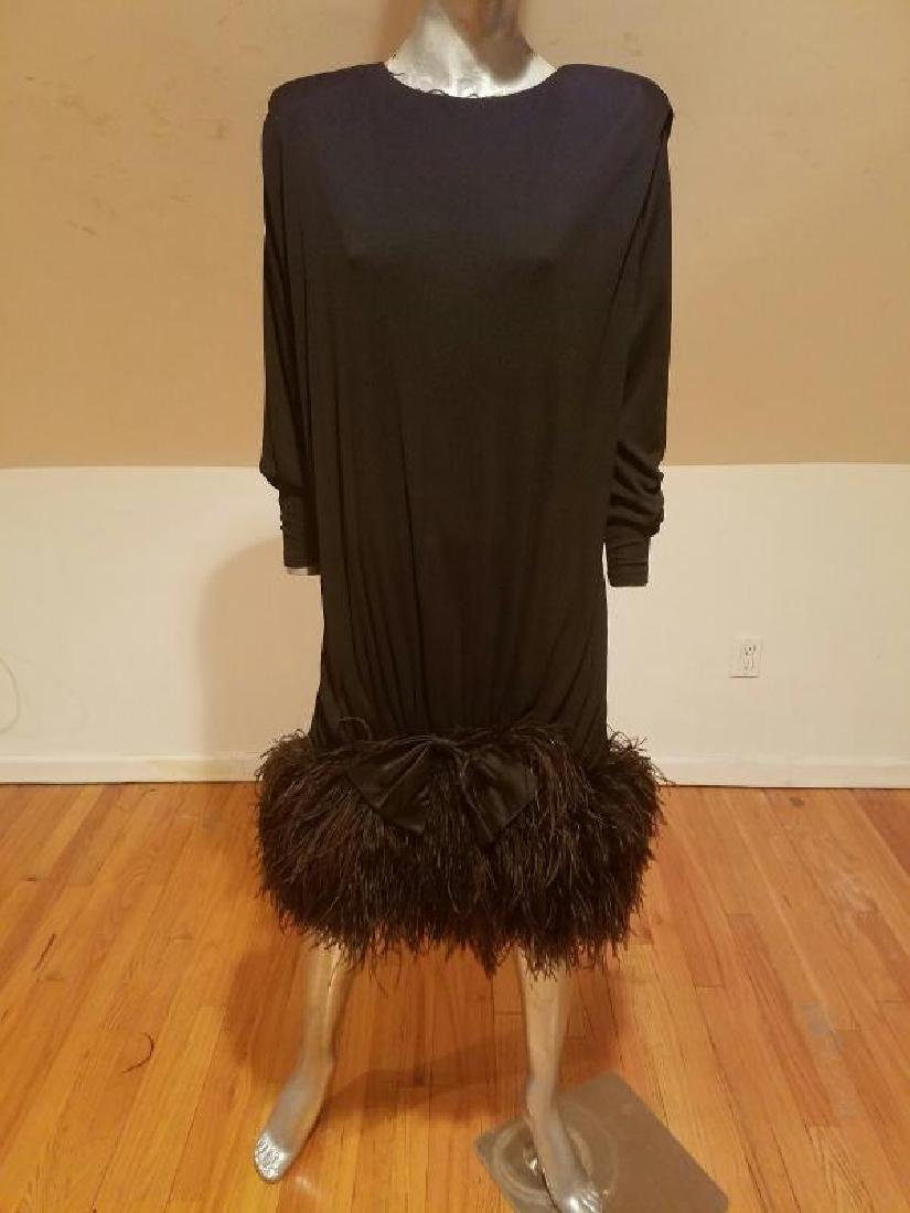 Vtg Iconic Jeanette for St.Martin Feather embellished - 3