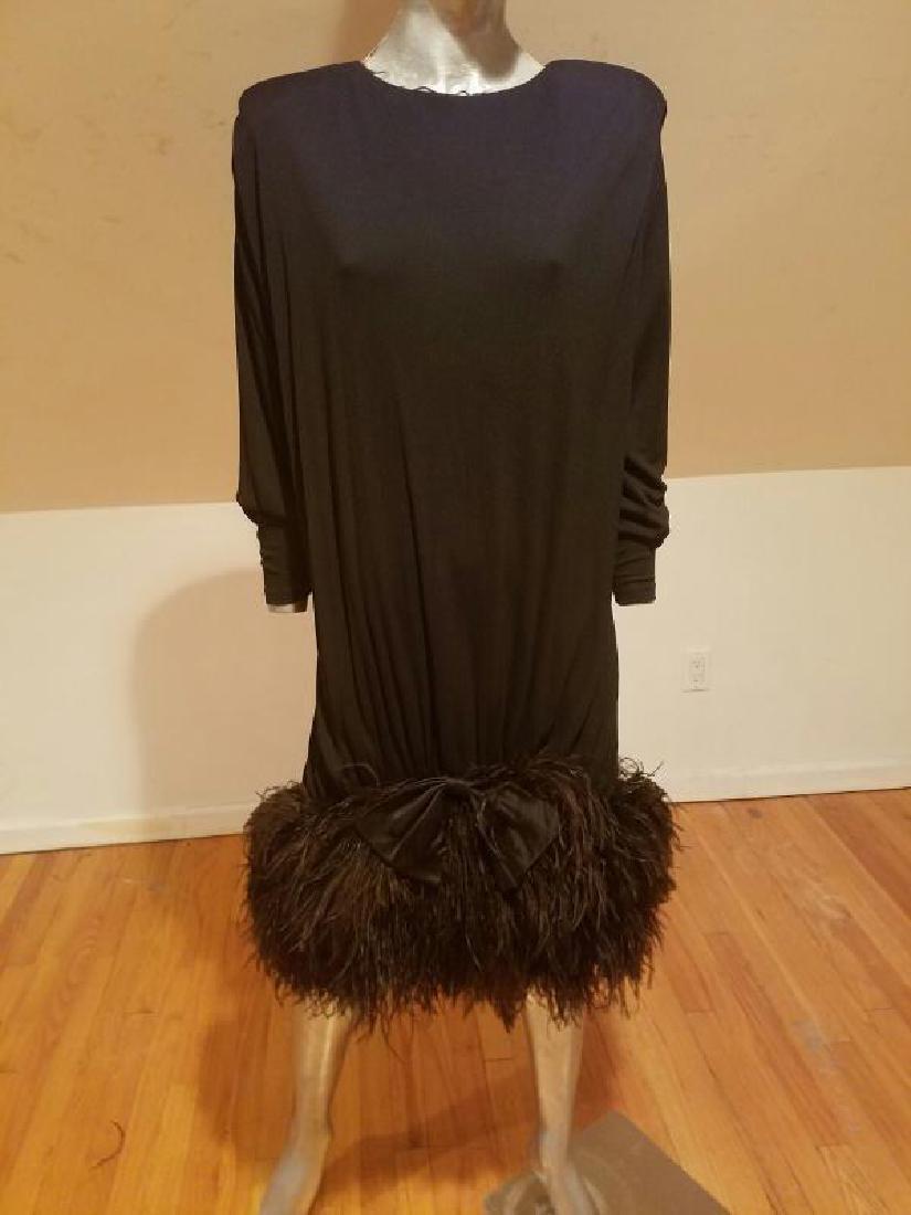Vtg Iconic Jeanette for St.Martin Feather embellished - 8