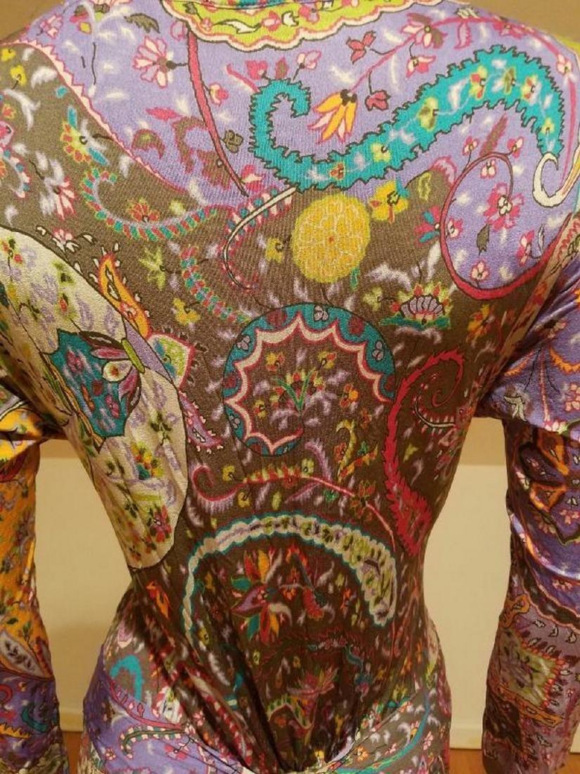 ETRO Milano Silk hand painted lavender base charleston - 6