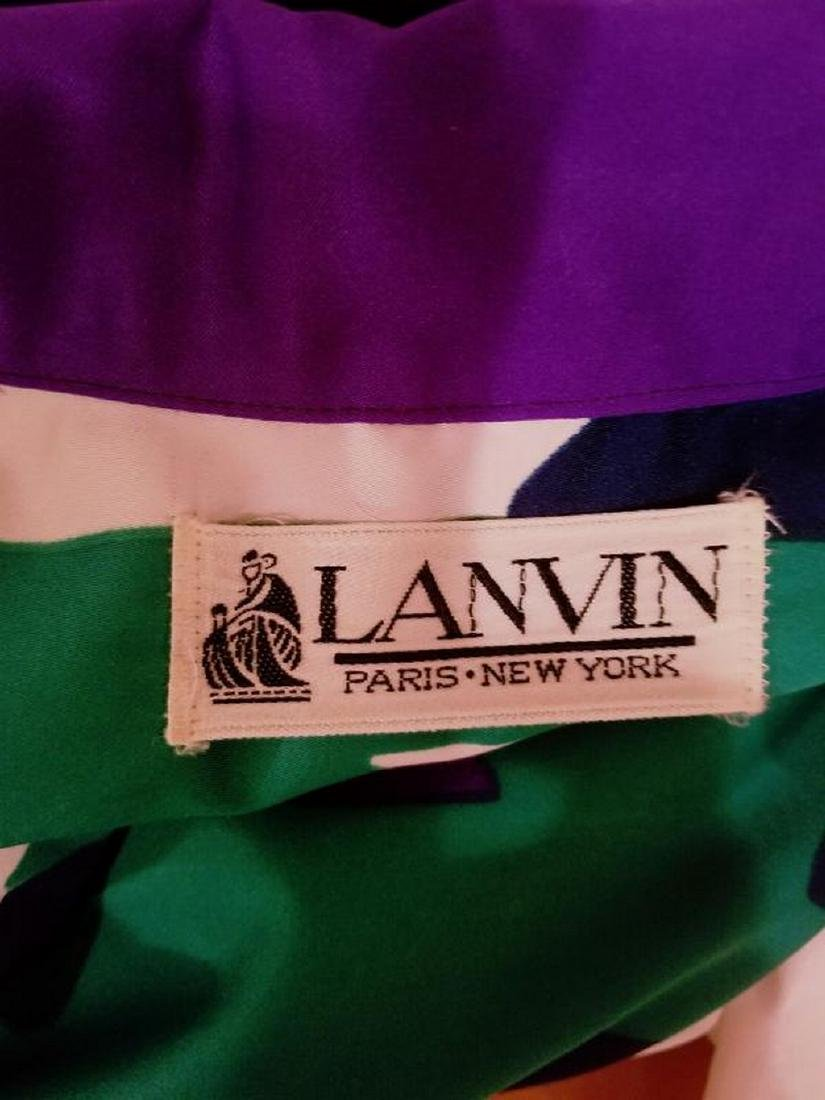 Vtg LANVIN 1970 very rare Killer chemise dress w/sash - 3