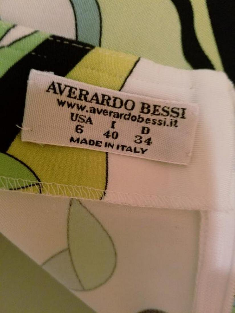 Vtg Averardo Bessi Signed printed dress w/belt Circa - 10
