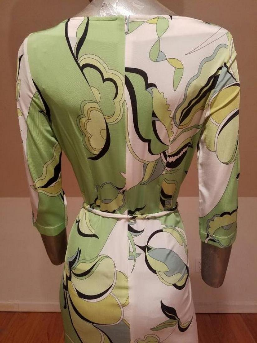 Vtg Averardo Bessi Signed printed dress w/belt Circa - 5