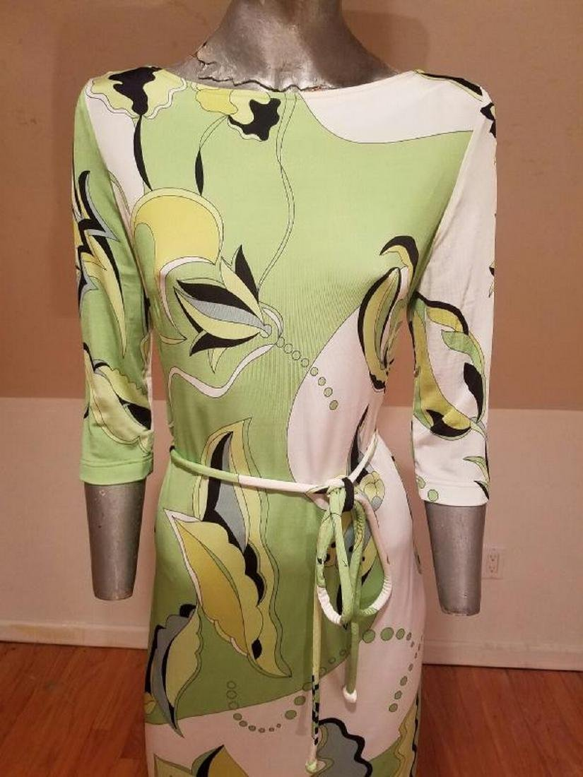 Vtg Averardo Bessi Signed printed dress w/belt Circa - 6