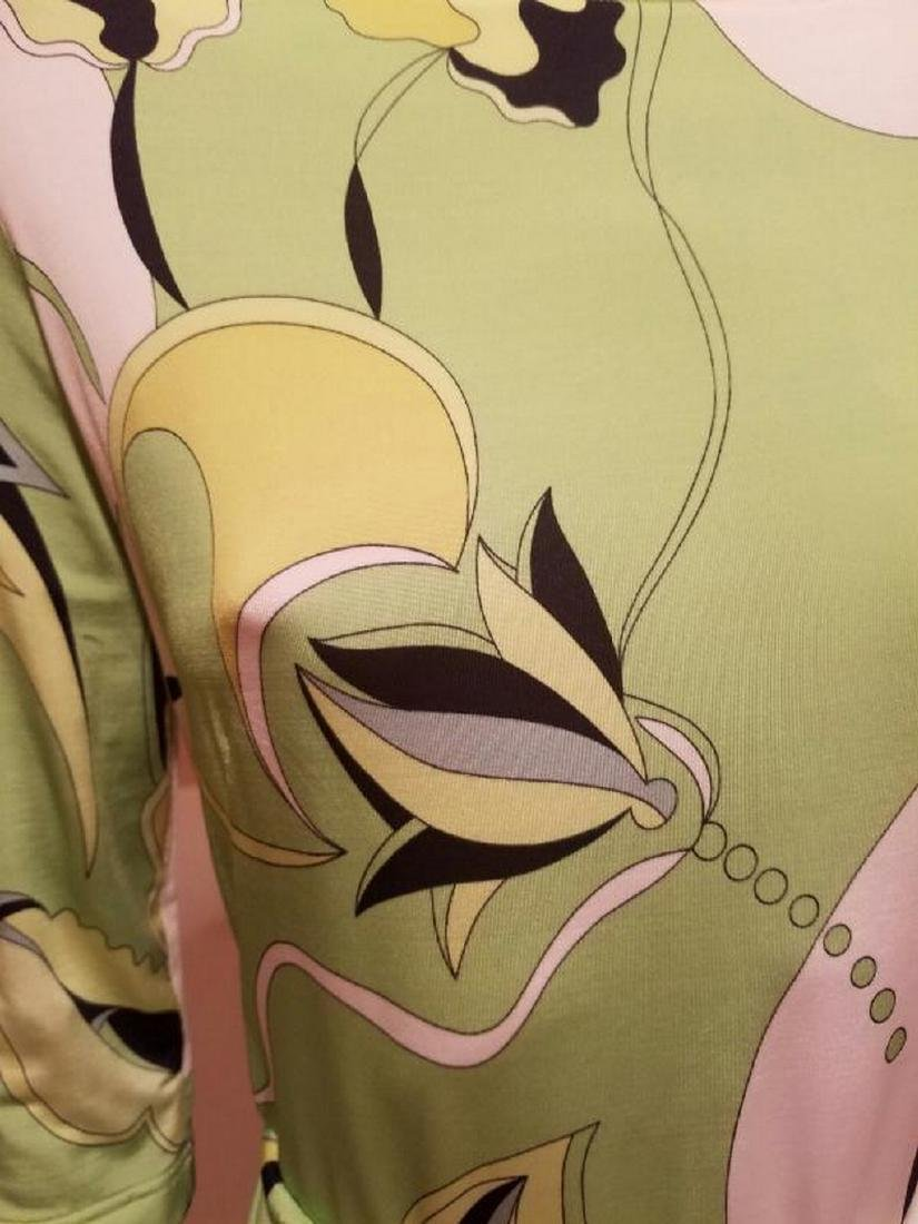 Vtg Averardo Bessi Signed printed dress w/belt Circa - 8