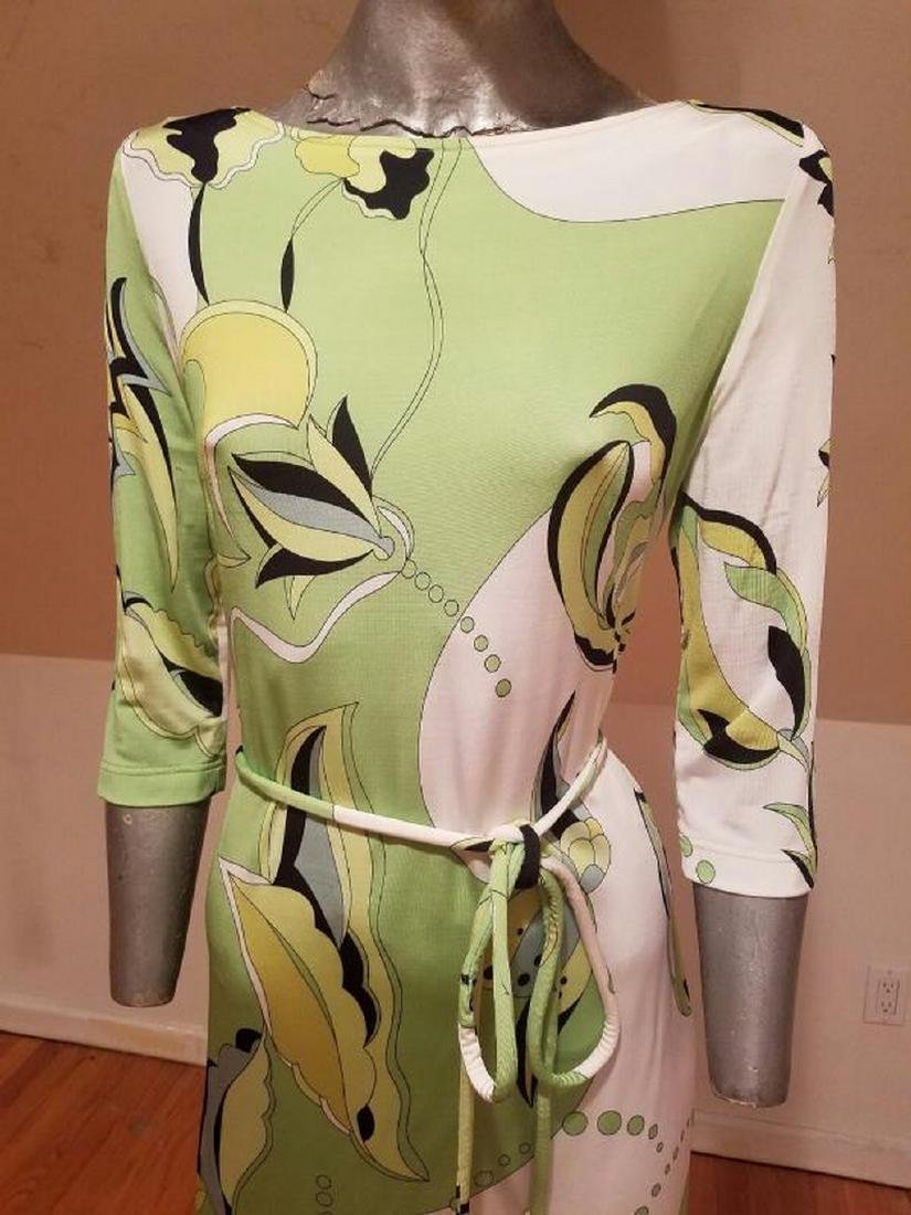 Vtg Averardo Bessi Signed printed dress w/belt Circa - 9