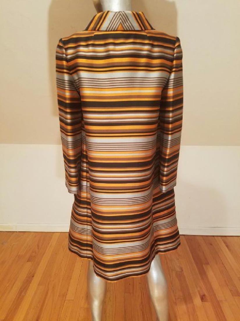 Vtg Silk Shantung Opera Ensemble Coat and Dress crystal - 5