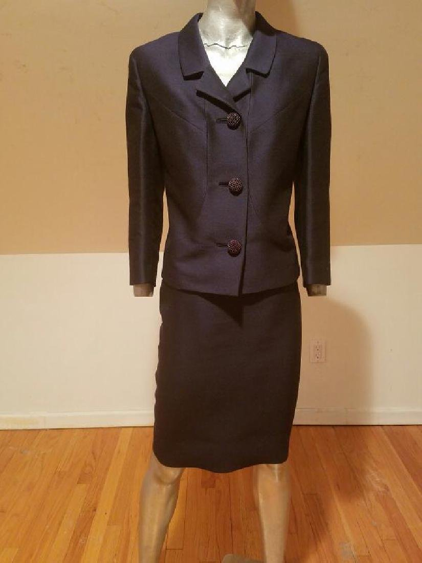 Vtg 1940's Arnold Constable Fifth Avenue Gabardine wool - 2