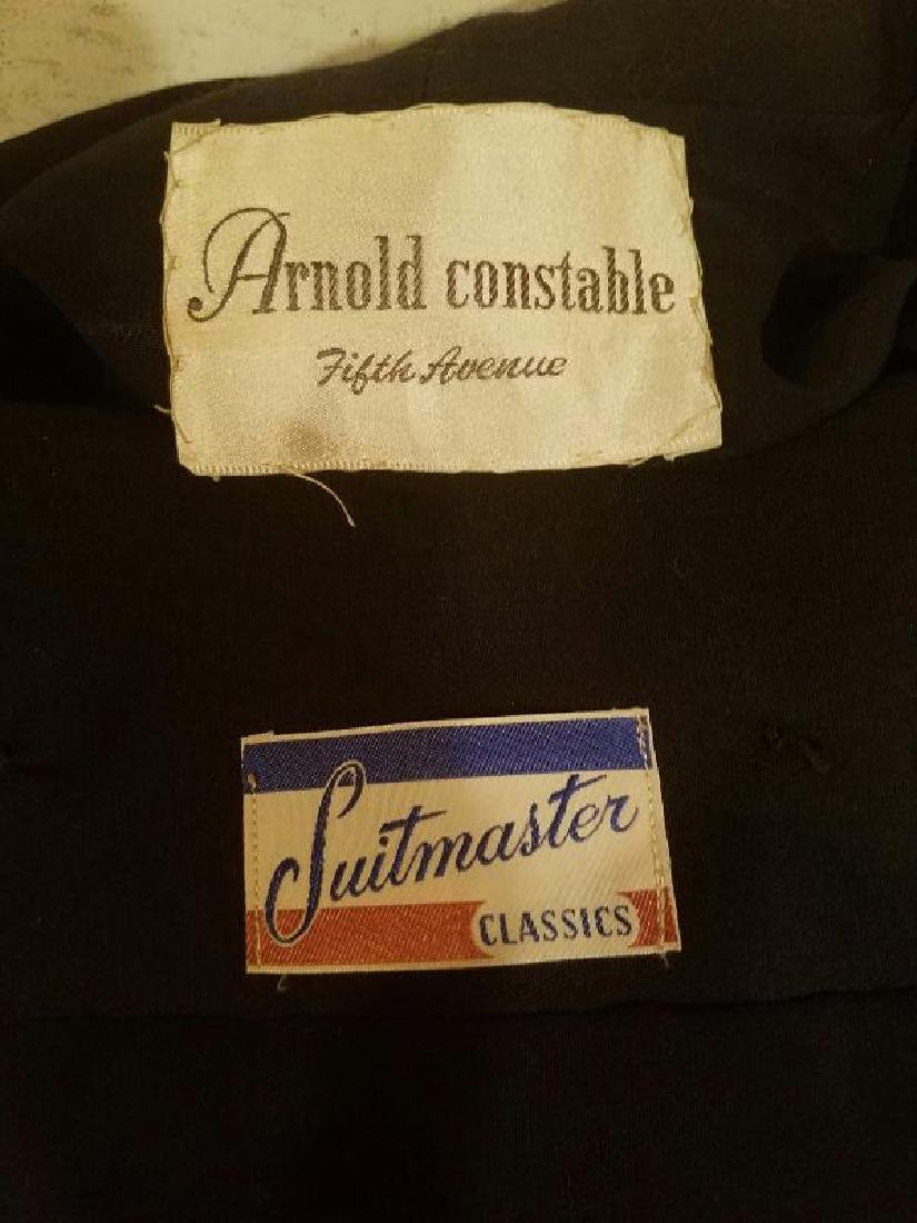 Vtg 1940's Arnold Constable Fifth Avenue Gabardine wool - 4