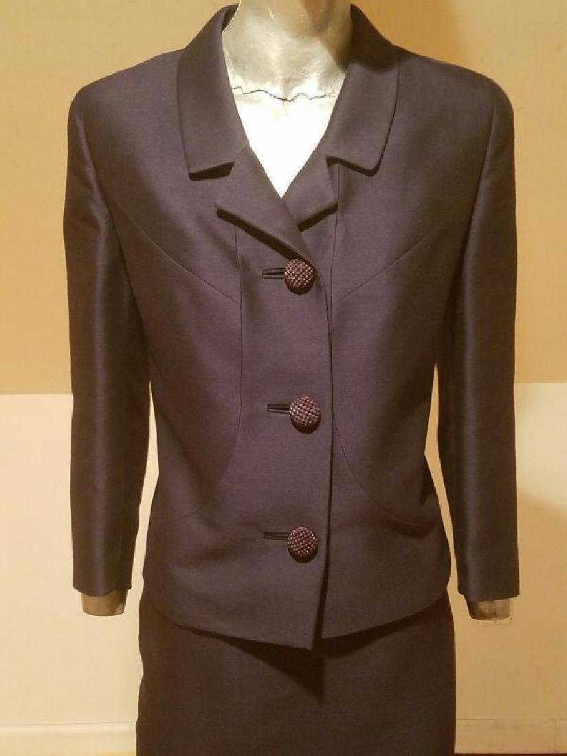 Vtg 1940's Arnold Constable Fifth Avenue Gabardine wool - 6