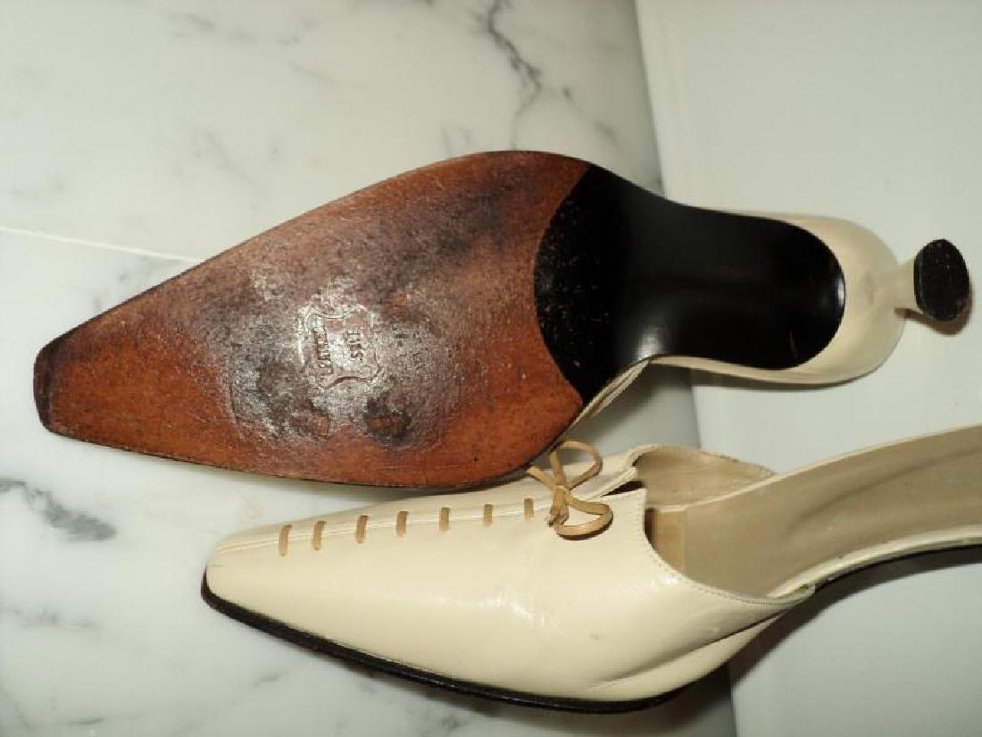 Stuart Weitzman authentic leather open back mules tie - 7