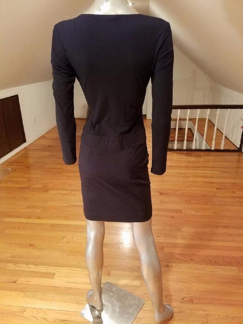 Vtg DKNY cotton knit draped mini dress amazing details - 3