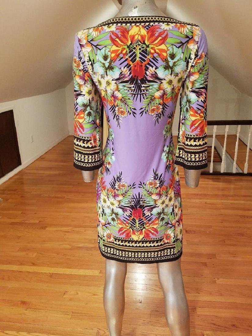 Vtg lilac floral printed wiggle dress Paganne style - 5