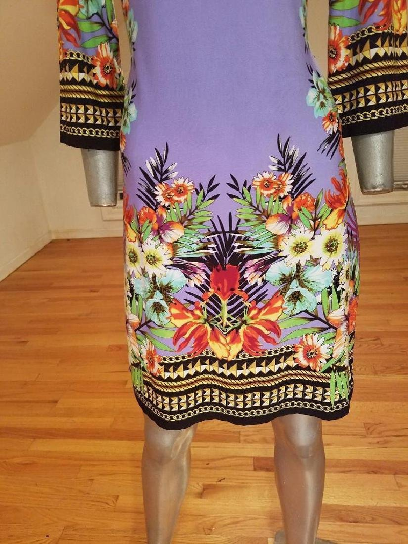 Vtg lilac floral printed wiggle dress Paganne style - 7