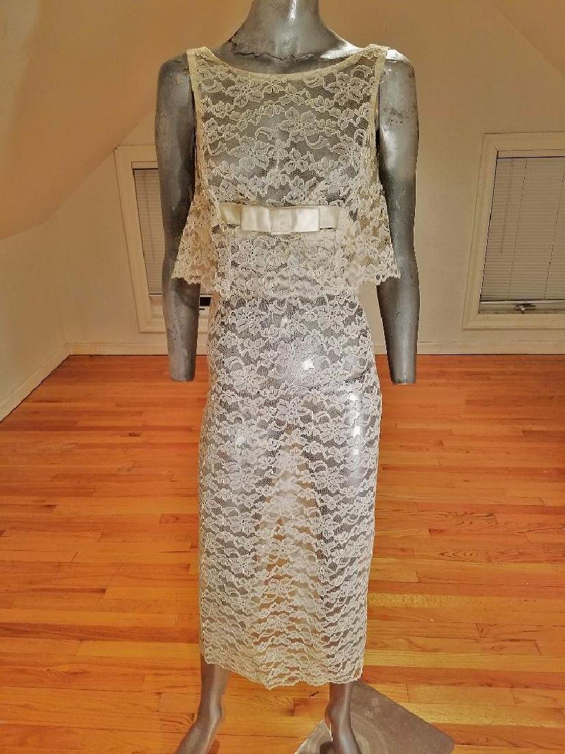 Vintage 1950's Layering French Guipure lace Cocktail