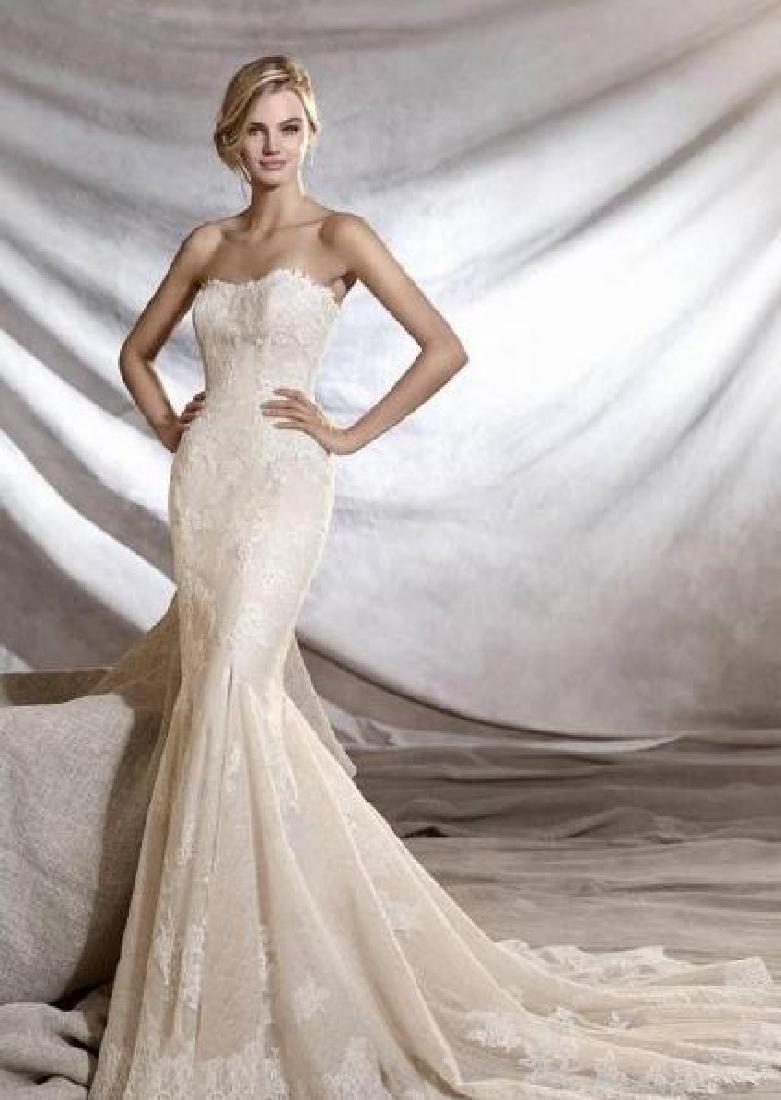 Pronovias Manuel Mota Runway Bridal Strapless Gown