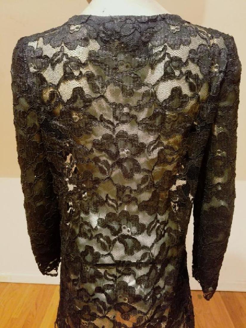 Vtg Adele Simpson Layering French Guipure Lace Tunic - 10