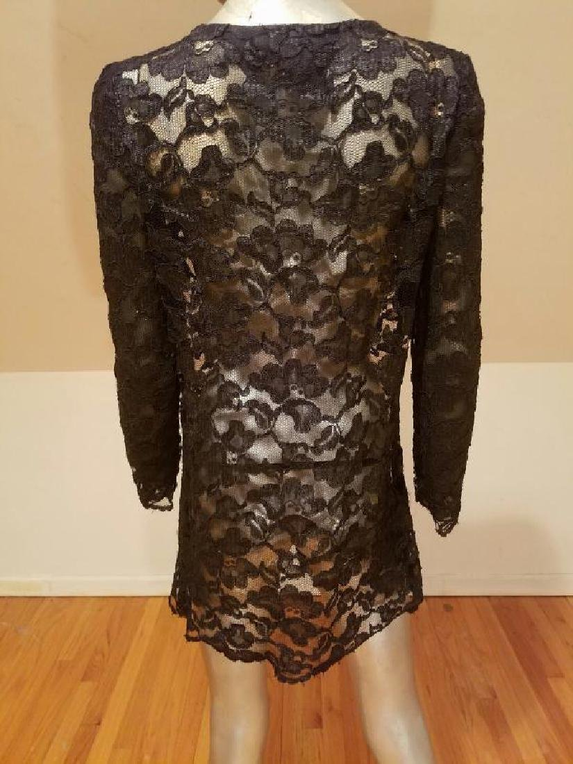 Vtg Adele Simpson Layering French Guipure Lace Tunic - 8