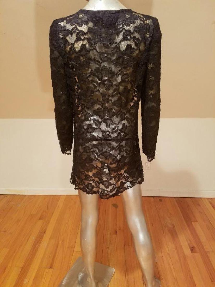 Vtg Adele Simpson Layering French Guipure Lace Tunic - 9