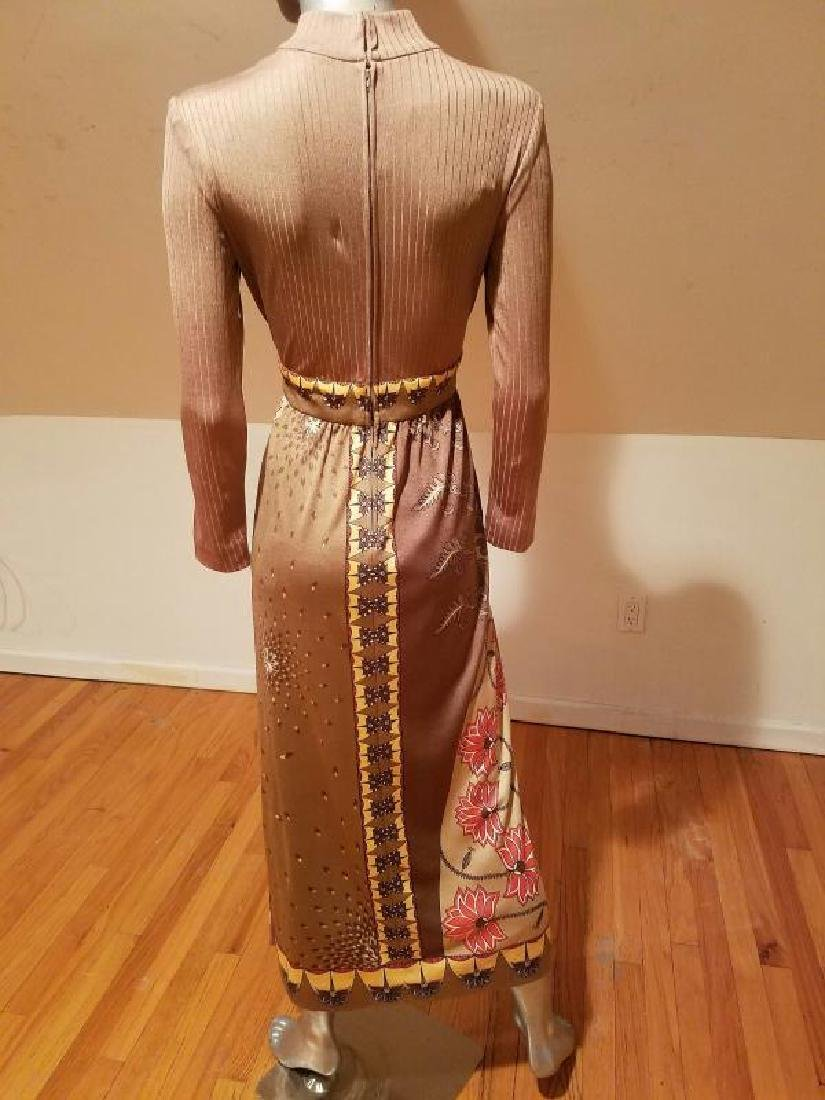 Vtg Signed Paganne Maxi dress Hobo Chic 1960 - 10