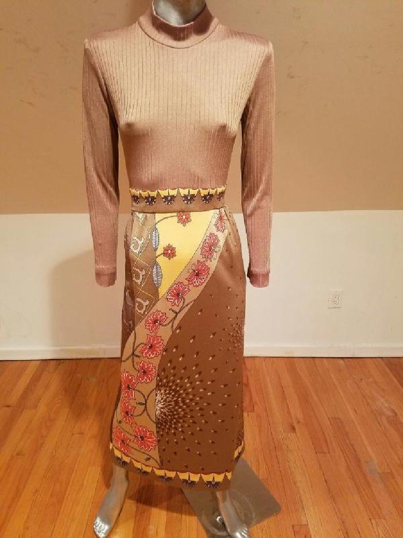 Vtg Signed Paganne Maxi dress Hobo Chic 1960