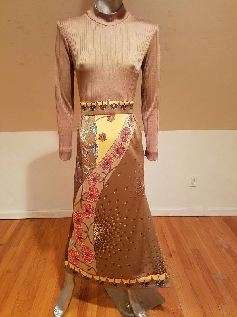 Vtg Signed Paganne Maxi dress Hobo Chic 1960 - 3
