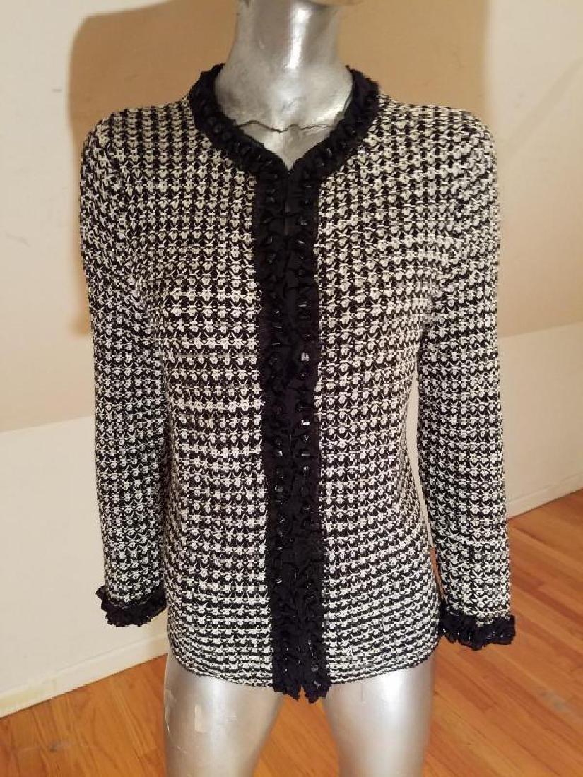 Vtg knitted tunic sweater onyx Embellished