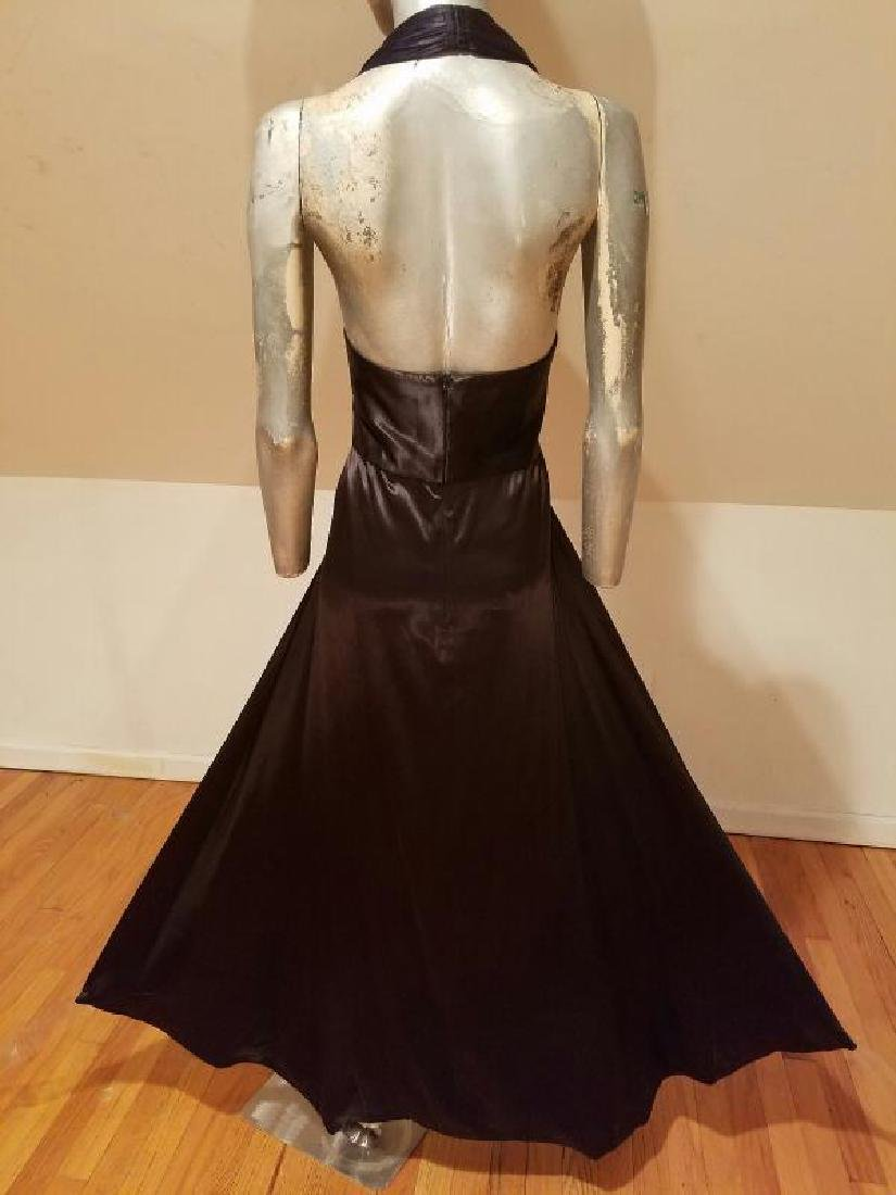 Vtg Norma Kamali Glam satin Pin- Up Gown - 10