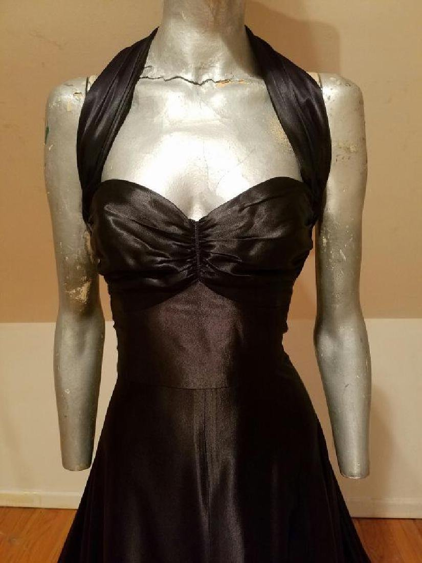 Vtg Norma Kamali Glam satin Pin- Up Gown - 6