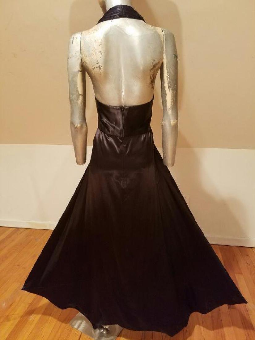 Vtg Norma Kamali Glam satin Pin- Up Gown - 8