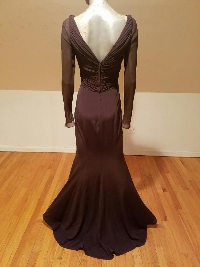 Vtg Iconic Wayne Clark retro gown with train - 10