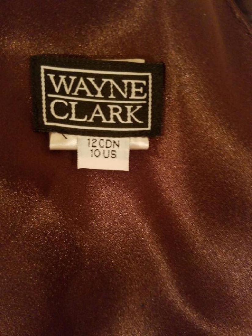 Vtg Iconic Wayne Clark retro gown with train - 2