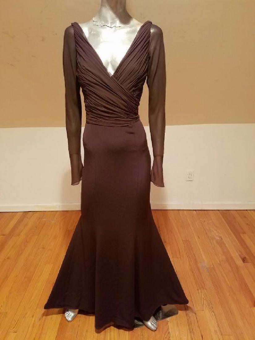 Vtg Iconic Wayne Clark retro gown with train - 3
