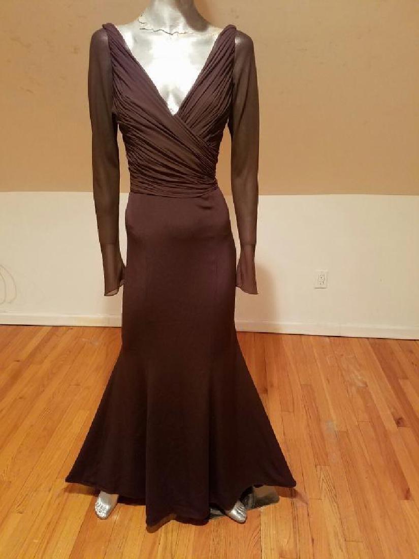 Vtg Iconic Wayne Clark retro gown with train - 5