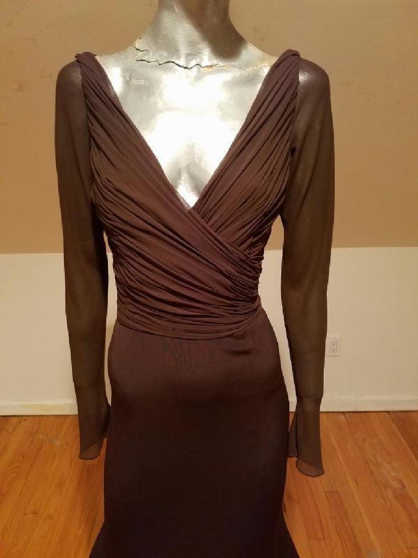 Vtg Iconic Wayne Clark retro gown with train - 6