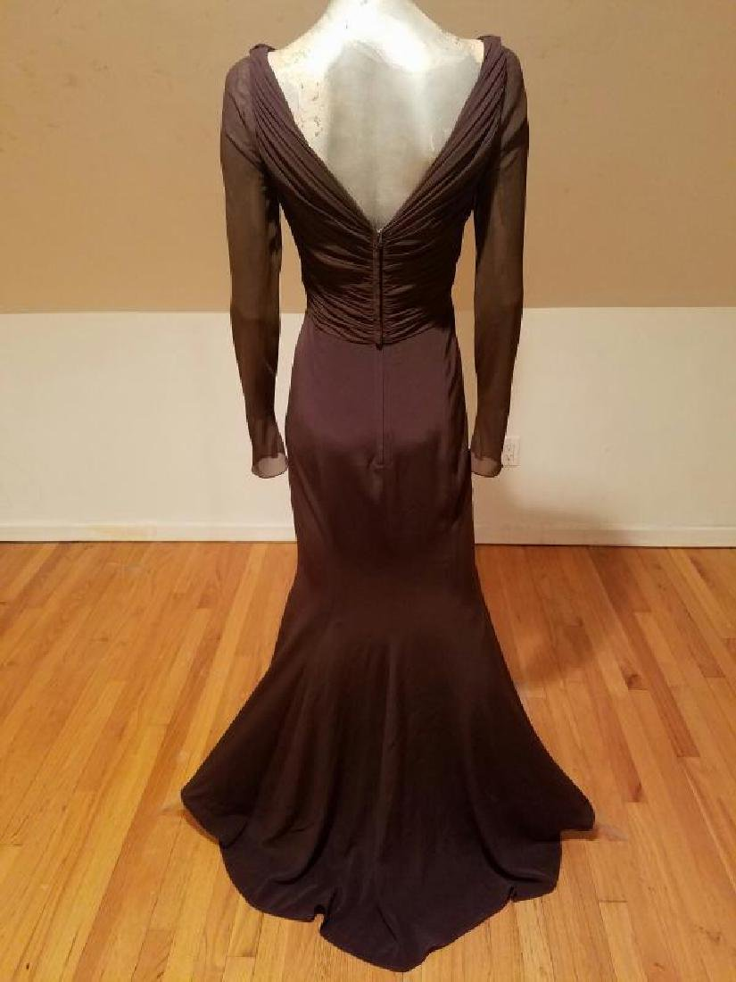 Vtg Iconic Wayne Clark retro gown with train - 7