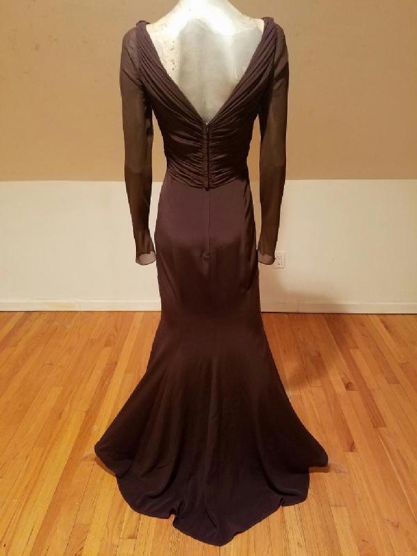 Vtg Iconic Wayne Clark retro gown with train - 8
